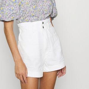 Levi's High Rise White Shorts
